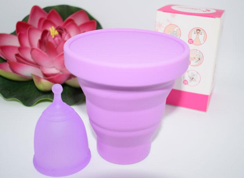 cupa menstruala si recipient sterilizare